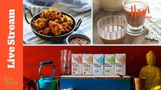 #FridayCurryClub | Courgette paĸora & masala chai | Sponsored by Tea India