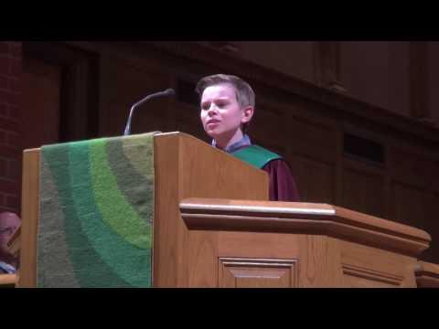 Miles Baker, boy soprano sings Mozart's Alleluia