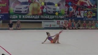Показательное выступление гимнастки со скакалкой(Показательное выступление гимнастки со скакалкой на всероссийском чемпионате ОФСО