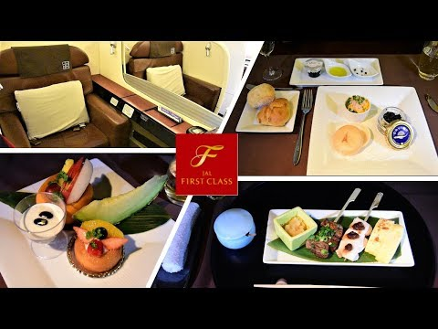 ENTIRE Japan Airlines First Class Experience + FOOD/SNACKS/Plane Spotting