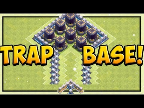HILARIOUS DARK ELIXIR TRAP BASE! Clash Of Clans Defense TROLLS Attackers!