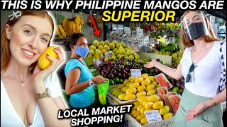 Grocery Shopping at LOCAL MANILA MARKET! Guimaras Mangos are Best in WORLD