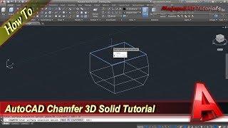 AutoCAD Chamfer 3D Object Design Tutorial