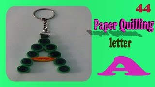 paper quilling Keychain - A