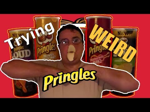 Trying WEIRD Pringles