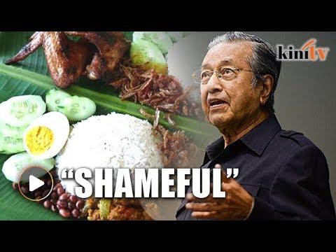 Mahathir: Graduates end up selling nasi lemak
