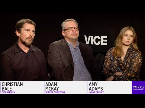 Christian Bale Amy Adams Steve Carell and Sam Rockwell on portraying political figures in &39;Vice&39;