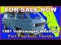 1981 Volkswagen Westfalia Used Class B Motorhome, Florida, Port Charlotte, Fort Myers, Sarasota