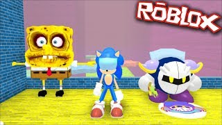 BEING SONIC IN A SPONGEBOB OBBY FOR THE DAY !! Roblox OBBY