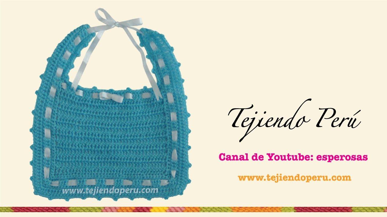 Babero tejido a crochet (crochet bib) - YouTube