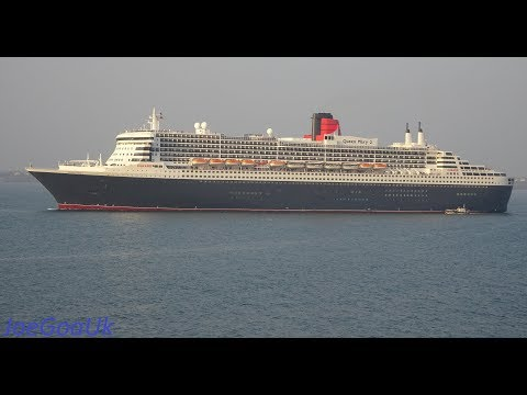 Queen Mary 2  In Goa,  Leaving..