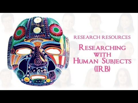 Researching with Human Subjects (IRB)