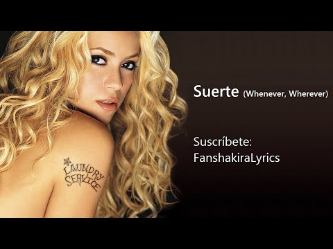 12 Shakira - Suerte (Whenever, Wherever) [Lyrics]
