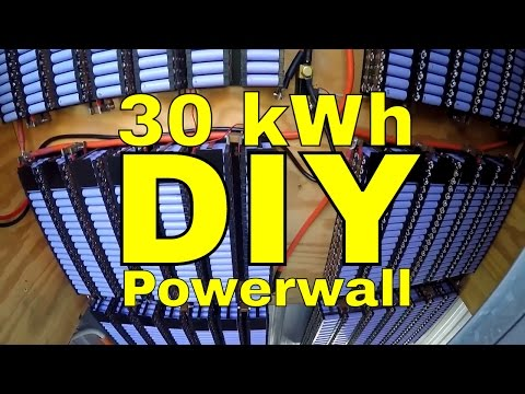 30 kWh 18650 DIY Tesla Powerwall 2