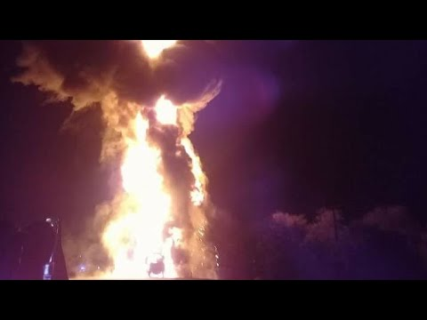 Mobil Pertamina terbakar di tol Jakarta Cikampek km 51