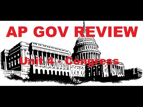 AP Gov Review: Incumbent Factor, Standing Committees - Unit 4 - Congress - Part 2