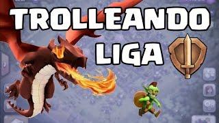 TROLLEANDO CON TROPAS AL MÁXIMO EN LIGA DE BRONCE!!! - CLASH OF CLANS