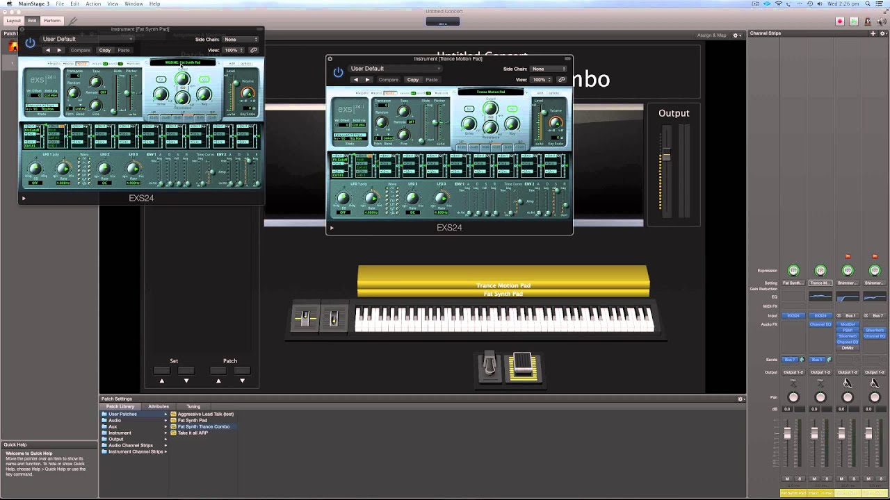Importing and Exporting MainStage Patches