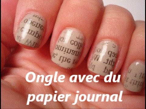 comment faire des ongles avec du papiers journal youtube. Black Bedroom Furniture Sets. Home Design Ideas