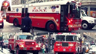 Fire Trucks, Police Cars, Ambulances Responding Best of Compilation 6 - Air Horns, Sirens, LIghts