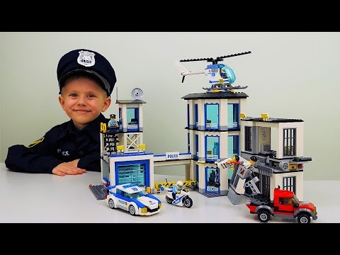 Полицейский участок Лего Сити 60141 и арест Лего Бандитов-Грабителей. POLICE STATION Lego CITY
