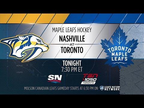 Molson Canadian Leafs Gameday: Nashville at Toronto - February 7, 2018