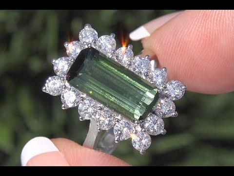 gia-certified-yellowish-green-tourmaline-&-diamond-ring-14k-white-gold-5.77-tcw---c295