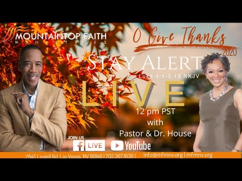 We are approaching the end of O'Give Thanks with Pastor & Dr. House