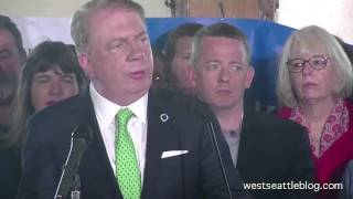 Mayor Ed Murray's Alki announcement that he's not running for re-election