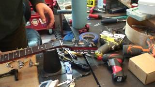 2014 Gibson SGJ: Installing Grover 502C 18:1 Locking Tuners