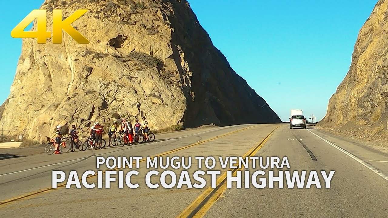 [4K] PACIFIC COAST HIGHWAY - Driving from Point Mugu to Ventura, Los Angeles, California, Travel, 4K