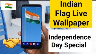 Indian flag live Wallpaper happy independence day special video screenshot 1