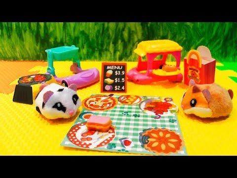 Хомячки Хома Дома игрушки Хомячим на природе и Хомбургер авто Видео для детей