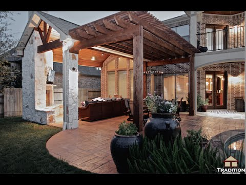 Patio Cover Outdoor Kitchen Fireplace And Pergola In