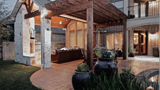 Patio Cover, Outdoor Kitchen, Fireplace, And Pergola In Cinco Ranch Katy Tx