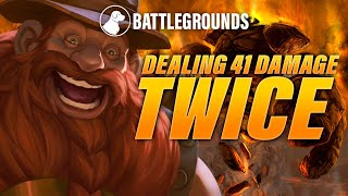 Dealing 41 Damage Twice, OTK Build in Battlegrounds | Dogdog Hearthstone Battlegrounds