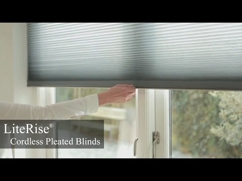 LiteRise® Cordless Pleated Blinds