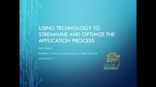 AFI Virtual Coffee Webinar Series: Using Tech. to Streamline & Optimize the Participant Appl Process