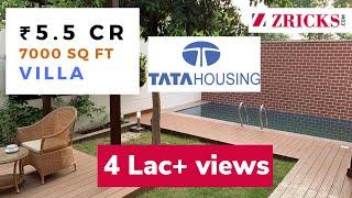 ₹ 5.5 CR || 4 BHK || 7000 sq ft || Exclusive Villa Tour || TATA Primanti Vertillas, Gurgaon, India