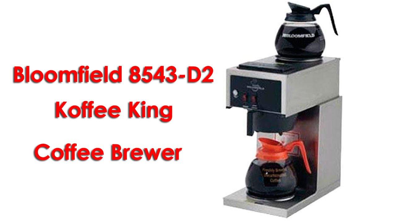 Industrial Coffee Makers Coffee Maker Reviews Bloomfield 8543 D2 Koffee King Coffee Brewer