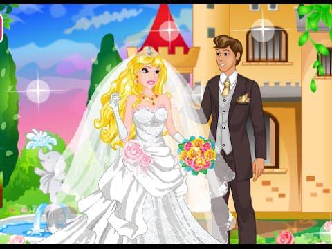 juegos de disney princesas: boda de princesa de aurora disney secret