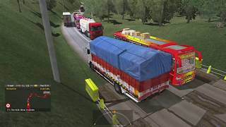 Indian Truck Driver Struggle In Heavy Traffic Road With Full Load||Ets2