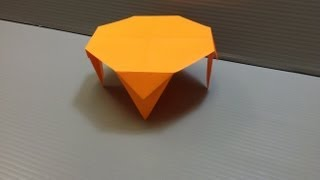 How to make an origami round table. ---------- Origami: Round Table...