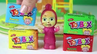 Maşa Ağaç Evde Birsürü Toybox Buldu Maşa Toybox Açıyor Eğlenceli Çizgi Film