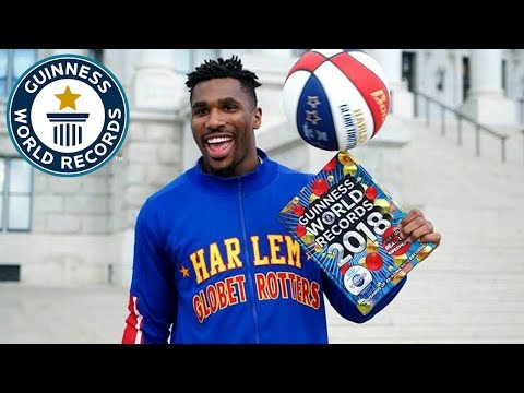 Harlem Globetrotters – Highest Upwards Basketball Shot – GWR Day