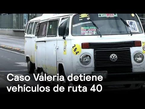 Tras muerte de Valeria, suspenden vehículos de ruta 40 - En Punto con Denise Maerker