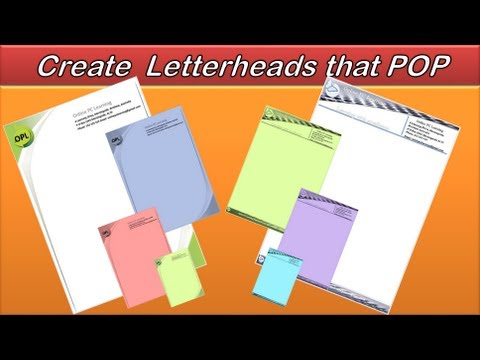 Letterhead - Create an Awesome Letterhead - Word 2010/2013 - Example