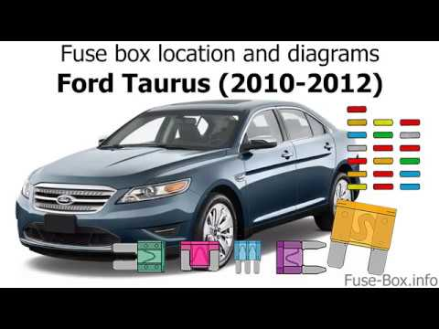 Fuse box location and diagrams: Ford Taurus (2010-2012) - YouTube