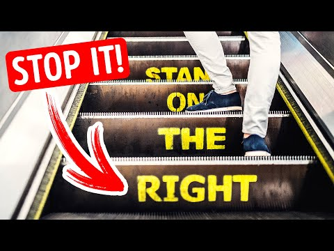 Stop Using Escalators the Wrong Way