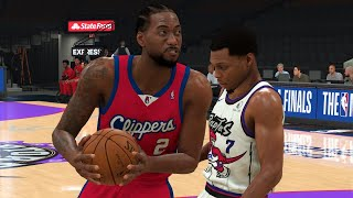 NBA 2K20 Finals - Los Angeles Clippers vs Toronto Raptors Full Game (NBA Finals 2K20 Gameplay)